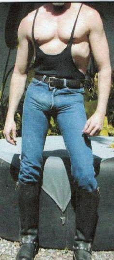 Cock ring under skintight jeans