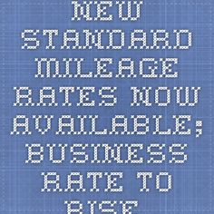New Standard Mileage Rates Now Available; Business Rate to Rise in 2015