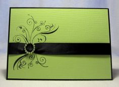 like the idea of the ribbon and embellishment over the stamping ; )