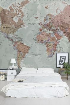 Custom quote Printable world map with countries US states