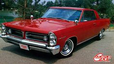 1963 Pontiac Grand Prix - Grenadier Red - Aluminum hub and drum 8 lug wheels