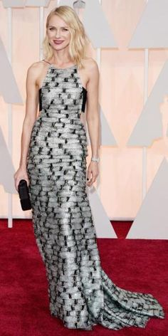 Naomi Watts in a halter Armani Prive beaded gown.