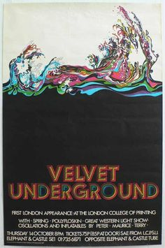 The Velvet Underground poster  The London College of Printing, 14 October 1971 Including 'Oscillations and Inflatables'