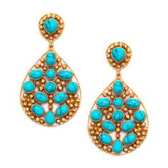 Mosaic Earring in Turquoise by Julie Vos. Available at Splurge. 704.370.0082