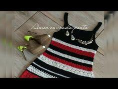 Crochet Woman, Crochet Baby, Crochet Bikini, Crochet Top, Knitting Videos, Crochet Videos, Crochet Summer Tops, Crochet Clothes, Girls Dresses
