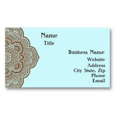Blau und Brown-Hennastrauch-Visitenkarte