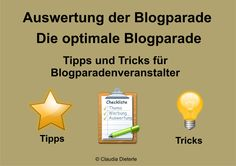 Bild zum Blogeintrag Die optimale Blogparade auf http://www.tipptrick.com/2014/07/19/claudias-praktischer-ratgeber-auswertung-blogparade-die-optimale-blogparade/
