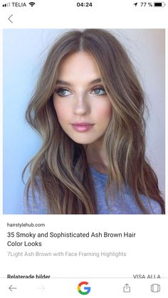 Hair style for middle parted hair