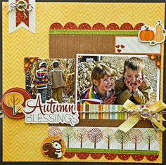 This adorable layout by Jodi Wilton used the Bushel O' Fall collection from Imaginisce.