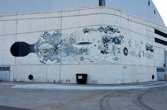 "Herbert Baglione x Daniel Munoz ""SAN"" New Mural In Madrid, Spain"