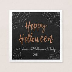 Happy Halloween Party Modern Halloween Napkins - kitchen gifts diy ideas decor special unique individual customized