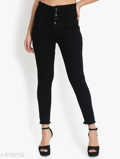 Checkout this latest Jeans Product Name: *Pretty Women's Jeans* Fabric: Denim Surface Styling: Fringed Multipack: 1 Sizes: 28 (Waist Size: 28 in, Length Size: 39 in)  30 (Waist Size: 30 in, Length Size: 39 in)  32 (Waist Size: 32 in, Length Size: 39 in)  34 (Waist Size: 34 in, Length Size: 39 in)  Easy Returns Available In Case Of Any Issue   Catalog Rating: ★4 (326)  Catalog Name: Trendy Sensational Women Jeans CatalogID_944381 C79-SC1032 Code: 155-6186152-6441