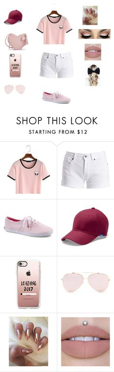 """January 15,2017. Going to the mall with my bestfrans"" by qveenkenya16 ❤ liked on Polyvore featuring Barbour International, Keds, Casetify and Ike Behar"