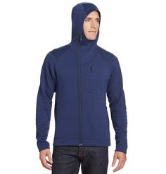 NAU:  Sweatshirt comfort meets technical performance in a thermal-weight Merino wool.