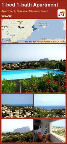 1-bed 1-bath Apartment in Apartment, Benissa, Alicante, Spain ►€95,000 #PropertyForSaleInSpain