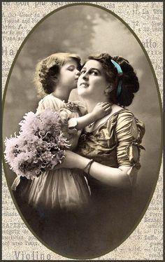 #vintage #photo #children (mother and child)
