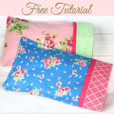 HOW TO MAKE A PILLOWCASE - Pillowcase Pattern in 3 Sizes : Learn how to make a pillowcase with a border and French seam. Best of all it won't take much more than 15 minutes of your precious time. Step by Step. Small Sewing Projects, Sewing Projects For Beginners, Sewing Tutorials, Sewing Tips, Sewing Hacks, Sewing Ideas, Dress Tutorials, Sewing Basics, Sewing Crafts
