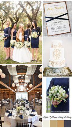 Navy and Gold Wedding Inspiration, Gold Wedding Invitations, Wedding Invitations by LoveofCreating