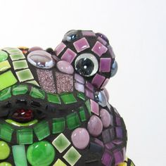 Smiling mosaic frog ANIMAL LOVERs FROG frogs mosaic by JillsJoy