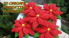 HOW TO MAKE 3D ORIGAMI POINSETTIA | DIY POINSETTIA CHRISTMAS DECORATION ...
