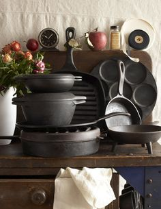 cast iron. This is what will be in my future kitchen! Love how it looks! :)