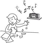 Collage relaxant: un bricolage tout en musique pour votre enfant. Téléchargez et imprimez les instructions.  #enfant #jeux #bricolage Collage, Instructions, Jouer, Fictional Characters, Art Therapy, Music, Projects, Bricolage, Collage Art