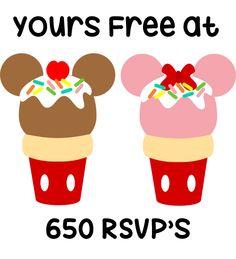650 free mickey ice cream*Mickey Ice Creams