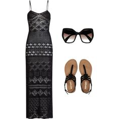 Black summer by kaylajsquared on Polyvore featuring polyvore, fashion, style, Emilio Pucci, Aéropostale and Prada