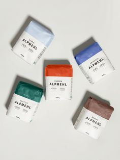 Packaging MPREIS Alpmehl – moodley brand identity How Do I Get My Child to Be Polite? Craft Packaging, Food Packaging Design, Coffee Packaging, Packaging Design Inspiration, Corporate Branding, Food Branding, Coffee Branding, Web Design, Label Design