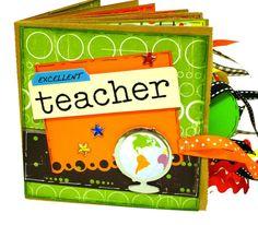 Excellent Teacher Scrapbook - Photo Album -  Paper Bag Album
