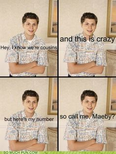 I thought of George Michael as soon as I heard that song. Someone also made an ok Call Me Maeby mashup.