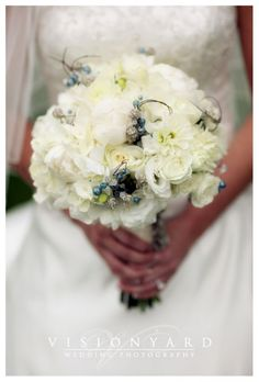 Bridal Bouquet- really like the blue and silver beads.