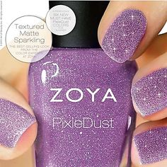Zoya Pixie Dust Summer 2013 nail polish collection, I NEED THIS! Purple Glitter; just some of my favorite things :)