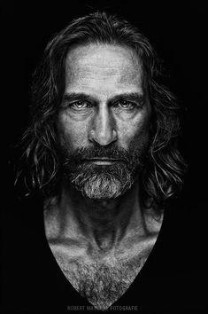 Black and white portrait triangular balance