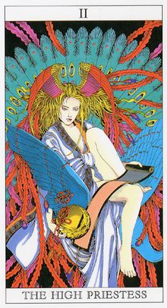 Love and Mystery Tarot by Yoshitaka Amano: The High Priestess