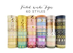 Bundle Deal 30 pcs Washi Tape Lot / Foiled Tape by PapergeekCo