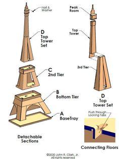 Cardboard Cat House, Cardboard Box Crafts, Cardboard Playhouse, Eiffel Tower Craft, Diy Cat Tower, Cat Tree Plans, Cat House Diy, Thinking Day, Pet Furniture