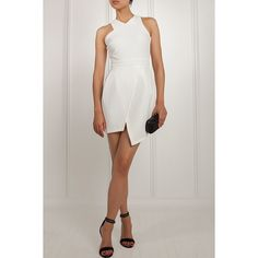 Tell your friends to book a reservation for the new restaurant downtown. This white hot dress is not made for staying in. From the edgy asymmetrical skirt to the sexy criss cross of the straps in the back against your shoulder blades- you'll look good coming and going.        Shell 94% Polyester, 6% Elastane, Lining 100% Polyester      Dry Clean/ Hand Wash | Shop this product here: spree.to/cds7 | Shop all of our products at http://spreesy.com/Jiobazaar    | Pinterest selling powered by…