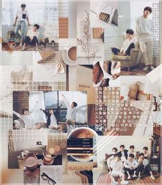 Brown and white aesthetic, aesthetics,bts collage, bts Brown Wallpaper, Bts Wallpaper, Namjoon, Taehyung, Collage Background, Brown Aesthetic, Bts Backgrounds, Top List, Binder Design
