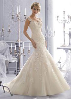 Vestido de novia Encaje Espalda Descubierta Encaje Corte Sirena Otoño