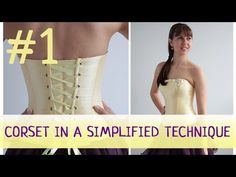 Corset in a simplified technique #3. How to make a corset? - YouTube