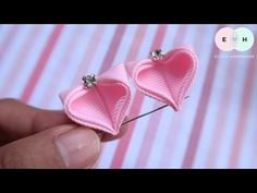 Amazing Kanzashi Flower - Hand Embroidery Works - Ribbon Tricks & Easy Making Tutorial - Free Online Videos Best Movies TV shows - Faceclips Ribbon Flower Tutorial, Ribbon Embroidery Tutorial, Hand Embroidery Flowers, Embroidery Works, Silk Ribbon Embroidery, Kanzashi Tutorial, Satin Ribbon Flowers, Cloth Flowers, Fabric Ribbon