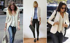 Veja como é possível compor um look com um toque de formalidade usando jeans e blazer. Acompanhe as dicas da Fargaz Jeans para você estar com o visual em dia! http://www.fargaz.com.br/blog/index.php?id=16