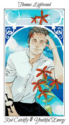 Drawn by Cassandra Jean ... the last hours, flower card, the mysterious tlh, thomas lightwood