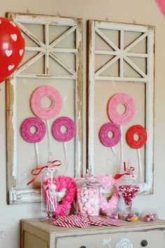 A backdrop for a sweets table. Fanciful Events: Valentine's Day Party.