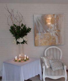 Para este Shabat, mi mesa decorada en blancos