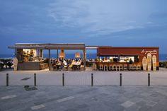 La Guingueta Beachside Bar & Restaurant in Barcelona, Spain was designed by Sandra Tarruella and her firm Sandra Tarruella Interioristas.