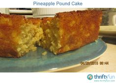 This is my own homemade recipe. It is a very moist fruit filled pound cake.