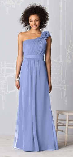 Periwinkle bridesmaid dress - this would be beautiful shorter.