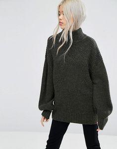 Weekday | Weekday - Maglione lavorato a maglia grossa con collo alto